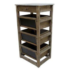 meuble de cuisine console de rangement table de rempotage en bois