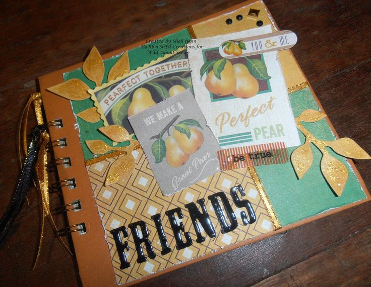 BaRb'n'ShEllcreations - Basic Grey - Herbs and Honey - Friends Album - made by Shell for Wild About Scrap