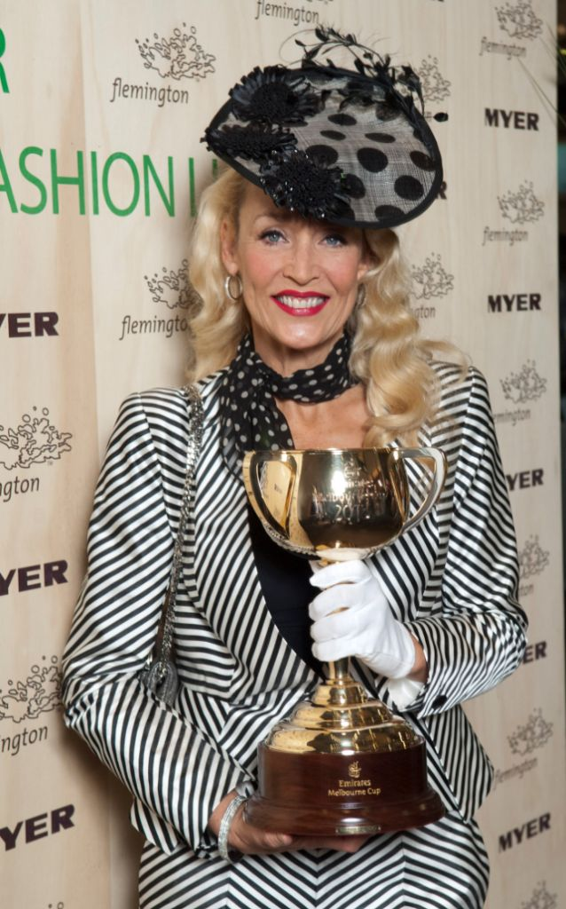 Jerry Hall and Melbourne Cup - photo by www.sdpmedia.com.au