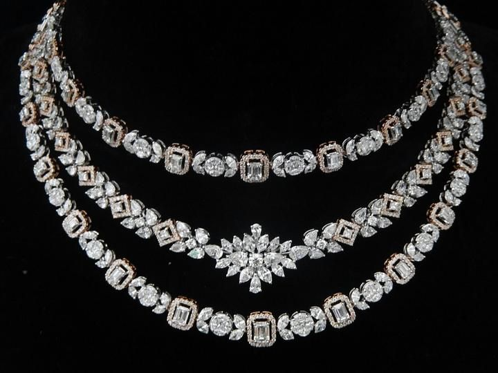 Three Step Necklace by Ansh Gems | Jivaana.com