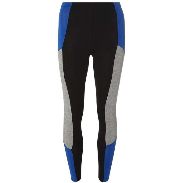Dorothy Perkins Black and Blue Sporty Leggings ($25) ❤ liked on Polyvore featuring pants, leggings, black, viscose pants, sports pants, sports trousers, blue pants and sporty pants