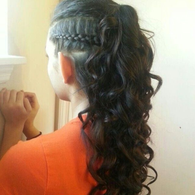 Quinceanera Hairstyles On The Side : 18 best quince hair images on pinterest