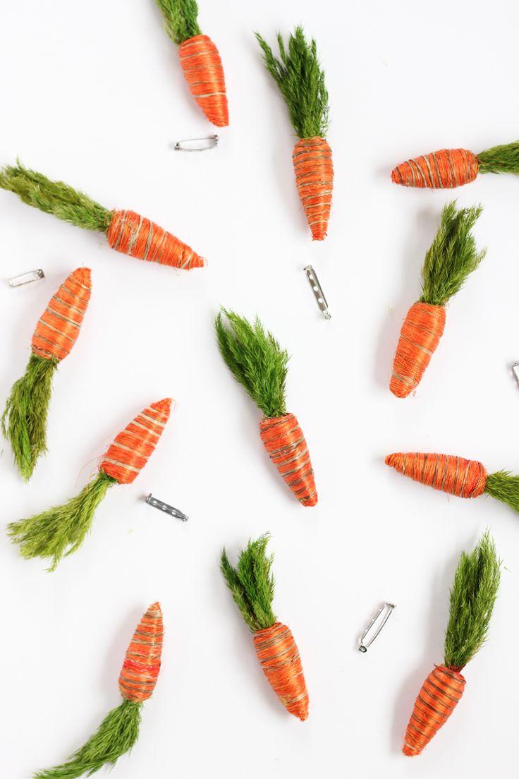 Carrot Boutonnieres // www.deliacreates.com