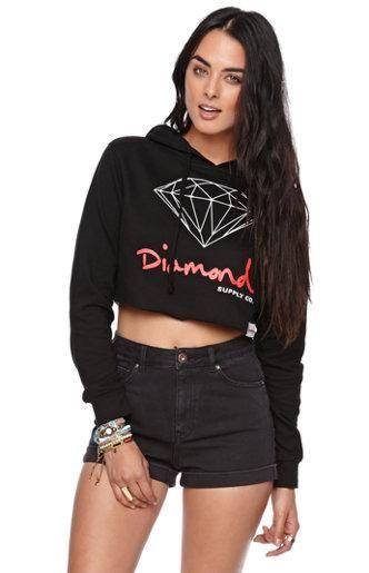 Diamond Supply Co Diamond Cropped Fleece Hoodie #pacsun DigitalThreads.co