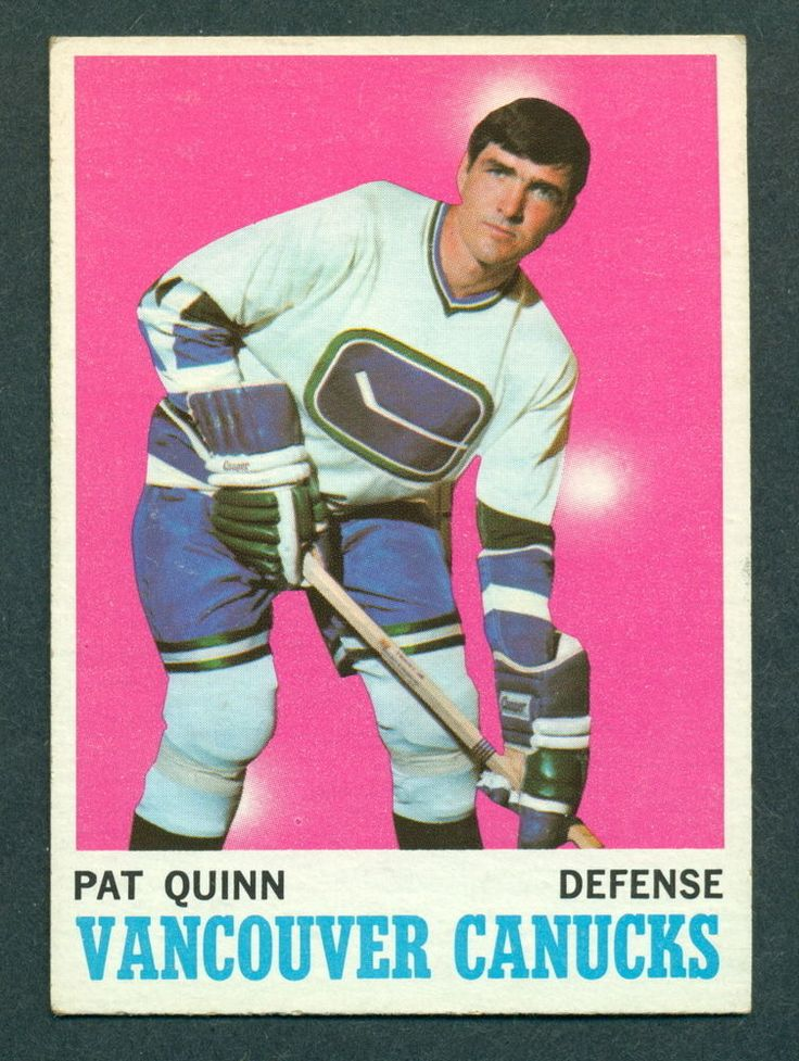 1970 71 TOPPS HOCKEY #120 PAT QUINN EX-NM VANCOUVER CANUCKS