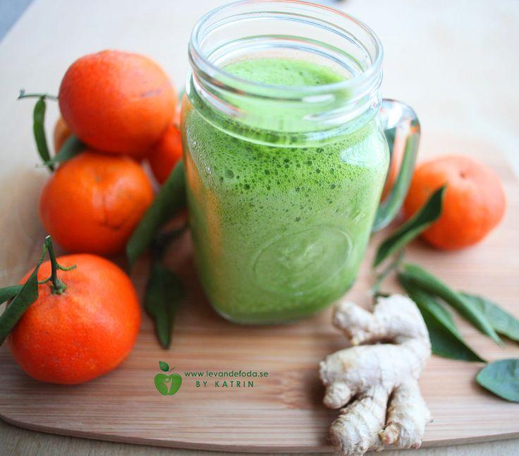 Kale, orange & ginger smoothie