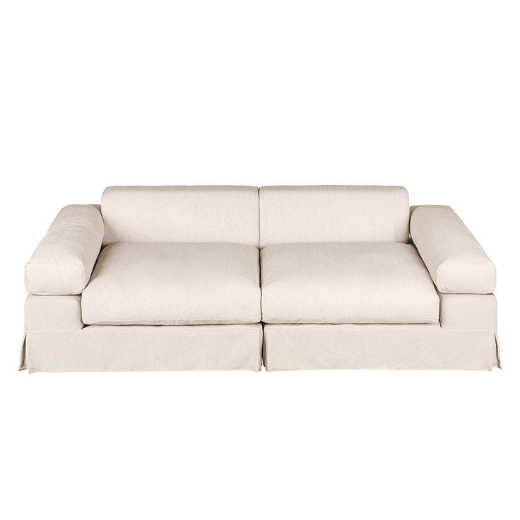 Big sofa Naomi - Tessuto - Beige / Turchese