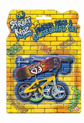 Toy Set Finger Bike & Planche à roulettes Avec Skate Accessoires Set: Créer des cascades incroyables avec cette touche mini-planche à…