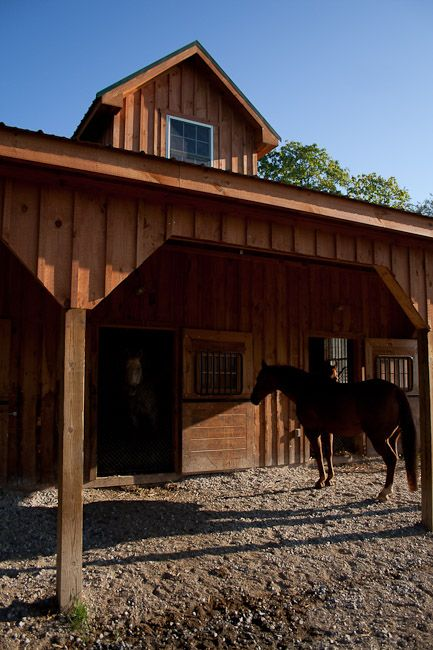 4 Car Garage Barn : Stall barn full loft with a detached car garage white