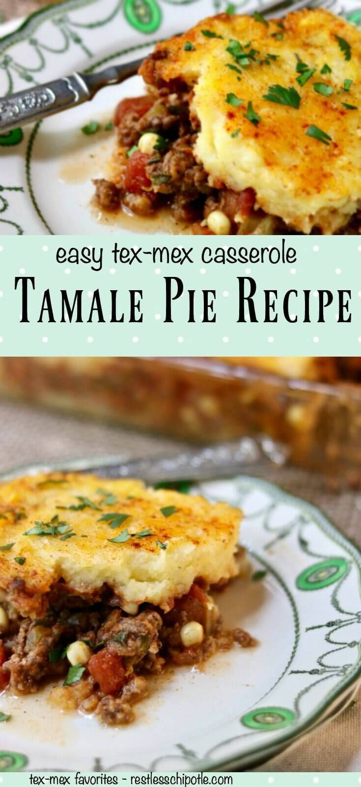 This easy Tex-Mex Tamale Pie recipe has been a favorite of families everywhere for decades - providing a budget friendly comfort food to busy home cooks. From RestlessChipotle.com via @Marye at Restless Chipotle