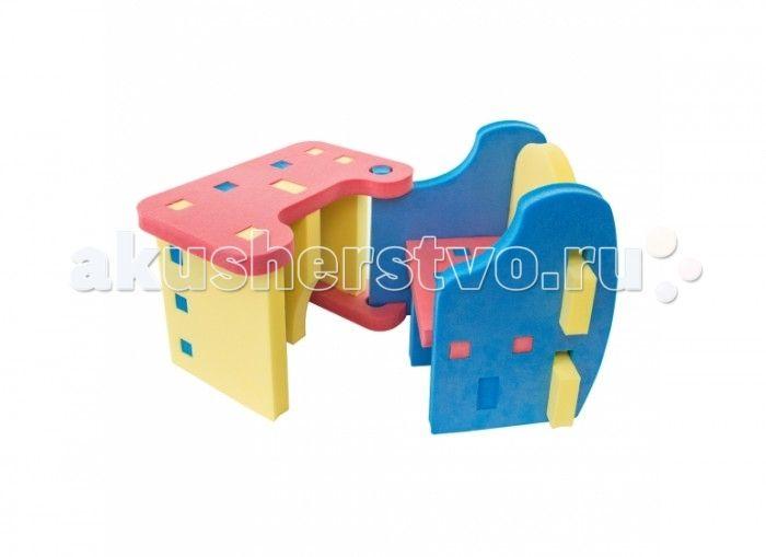 TweetSweet Детская парта Interlinked Desk  TweetSweet Детская парта Interlinked Desk - это модульная детская парта - оригинальное решение, совмещающее в себе комфорт детской мебели и эмоциональность весёлой игры. Такая парта порадует и ребёнка, и родителей яркой расцветкой, надёжностью и безопасностью материалов. Станет отличным местом для работы и творчества и легко впишется в интерьер детской комнаты. Такой элемент интерьера, состоящий из удобного кресла и столика, будет и рабочим местом…