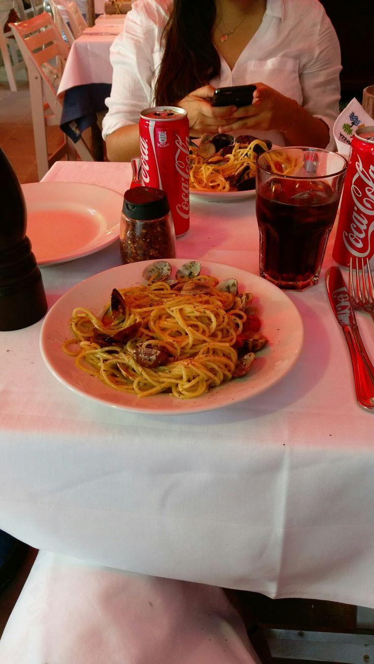 Cinque Terre, spaghetti alle vongole #food #italia #spaghetti