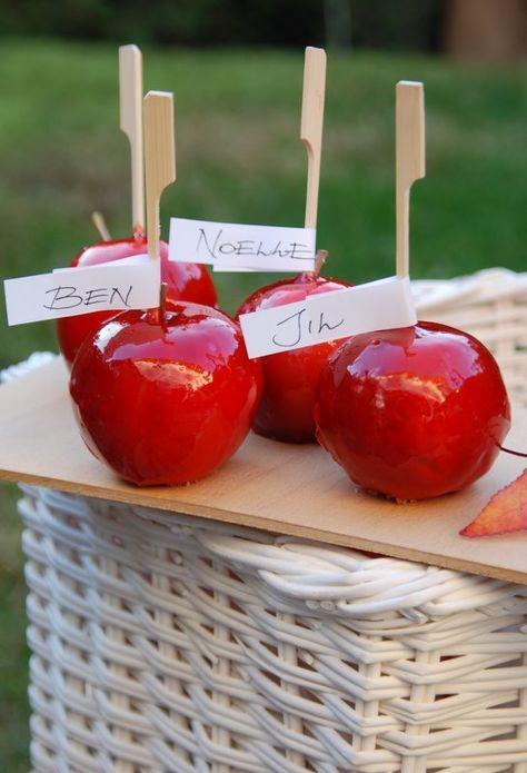Herbst-Picknick mit Kirmes-Süßigkeiten (selbstgemachte Liebesäpfel, gebrannte Mandeln, Almdudler)