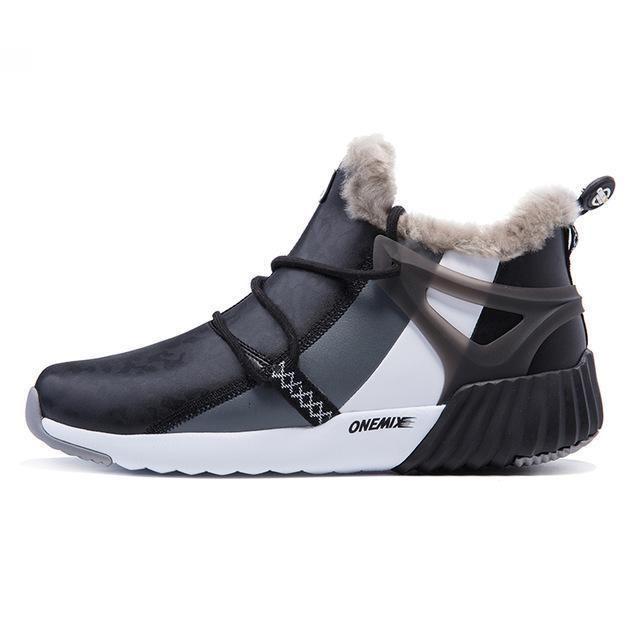 ONEMIX New Winter Men's Boots Warm Wool Sneakers Outdoor Unisex Athlet