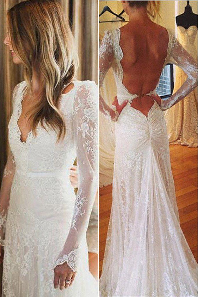 Long sleeve lace wedding dress pinterest mermaid