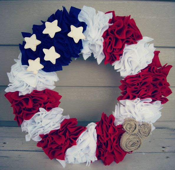 Celebrate Independence Day with these fun red, white, and blue crafts.