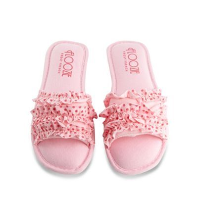 NEW WITH LABELS PINK FLOOZIE SLIP ON SLIPPERS SIZE 5-6
