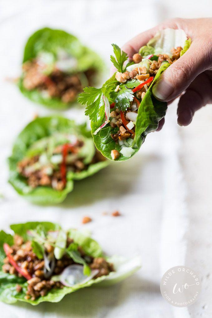 Spicy Turkey Lettuce Wraps. From zero to dinner hero in 30 minutes. | www.wildeorchard.co.uk