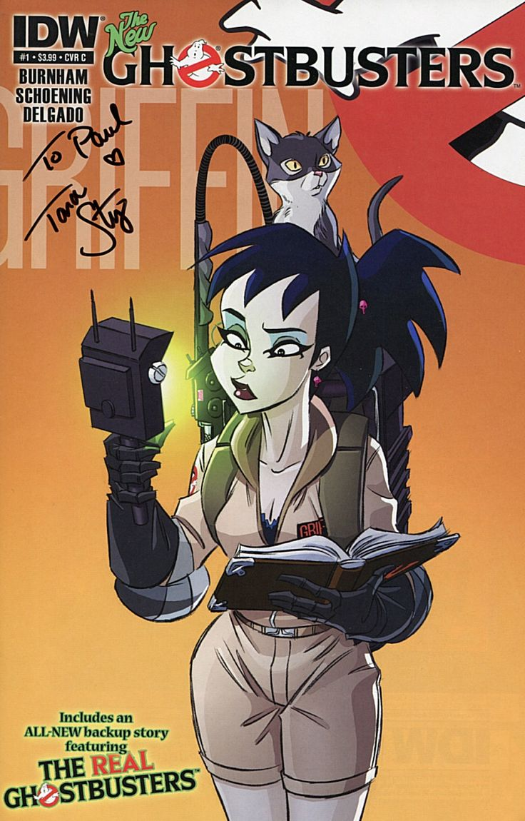"From ""Extreme Ghostbusters"", Kylie Griffin (voice and autograph by Tara Strong)."