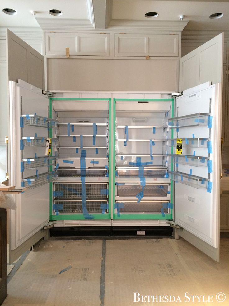 #BethesdaStyle ~ Miele Refrigerator and Freezer ~ Cabinets by Lobkovich Inc. Kitchen Designs www.Lobkovich.com #Lobkovich