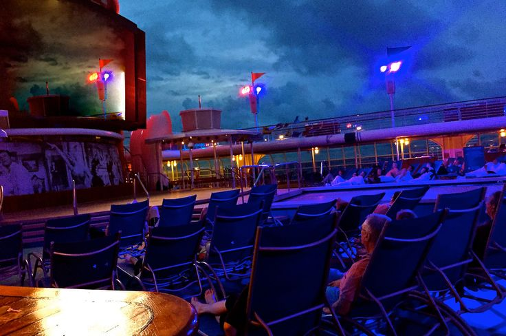 Seen all day and most of the night, #TCMCruise guests watching classic films on the Disney Magic big screen