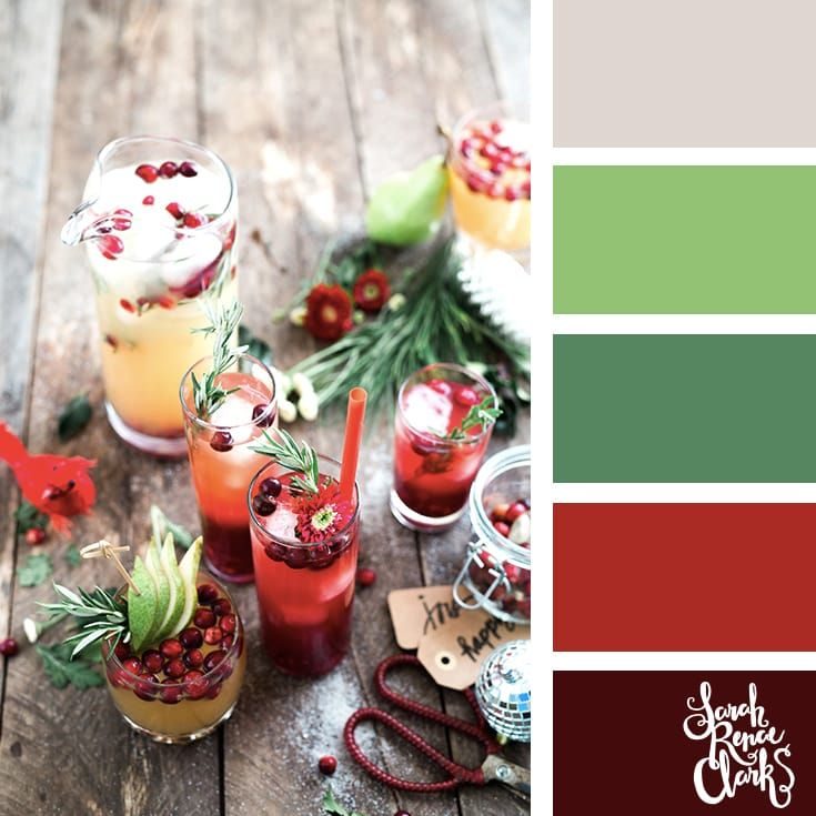 Christmas drinks // Christmas Color Schemes // Click for more Christmas color palettes, mood boards and color combinations at https://sarahrenaeclark.com #color #colorscheme #colorpalette