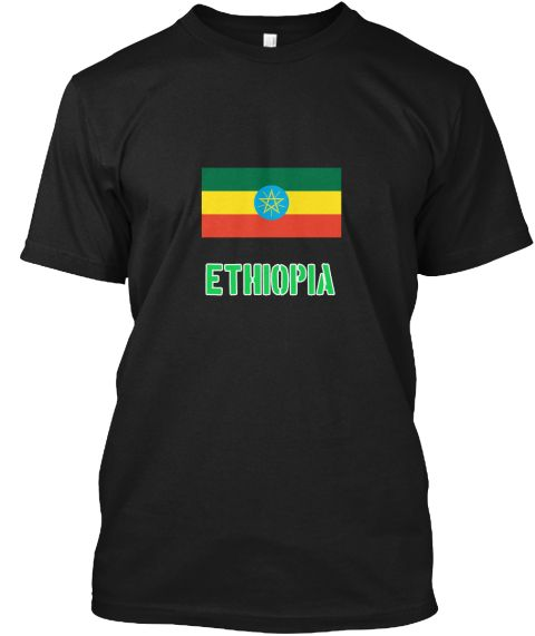 Ethiopia Flag Stencil Green Design Black T-Shirt Front - This is the perfect gift for someone who loves Ethiopia. Thank you for visiting my page (Related terms: I Heart Ethiopia,Ethiopia,Ethiopian,Ethiopia Travel,I Love My Country,Ethiopia Flag, Ethiopia Map,Et #Ethiopia, #Ethiopiashirts...)