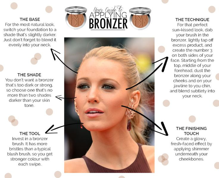 facial How to bronzer apply
