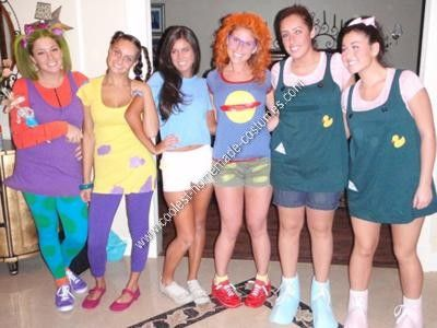 Homemade Rugrats Group Halloween Costume Idea: This Homemade Rugrats Group Halloween Costume Idea was by far the best costume I've done so far.  Angelica is a total brat so we made her act it all night.