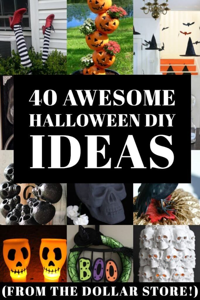 40 Stunning Dollar Store Halloween Decoration Ideas & Crafts That Look High End On the Cheap