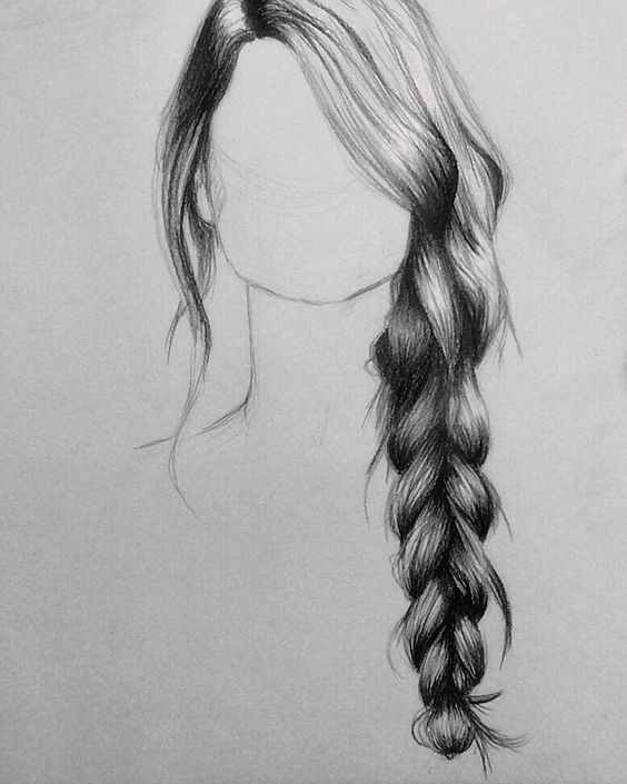17 best ideas about Drawing Hair Braid on Pinterest | Hair sketch ...
