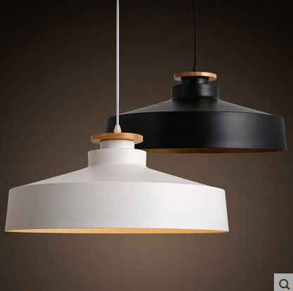 White Black restaurant bar coffee shop Wood aluminum Lights personality Pendant Light simple retro wood Whith Black Pendant lamp-in Pendant Lights from Lights & Lighting on Aliexpress.com   Alibaba Group