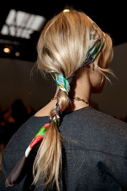 A cool way to hide a hair elastic and to twist a common ponytail
