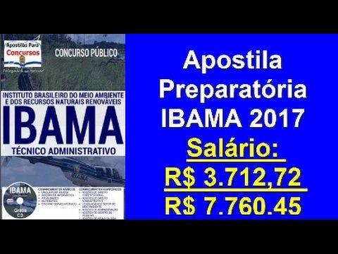 Apostila Completa Edital Concurso Público IBAMA 2017 Especialidade: Técnico Administrativo | Apostilas Para Concursos