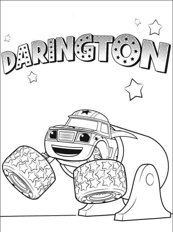 Darington Blaze And The Monster Machines Coloring Pages Coloring Pages Colouring Pages Cute Coloring Pages