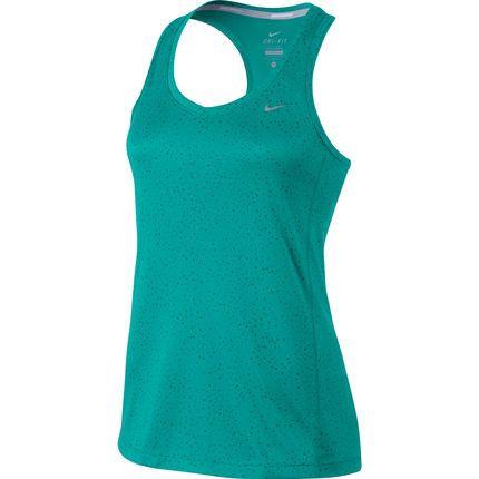 Wiggle Nederland | Nike Women's Printed Miler Tank - SU14 Hardlopen - sporthemden