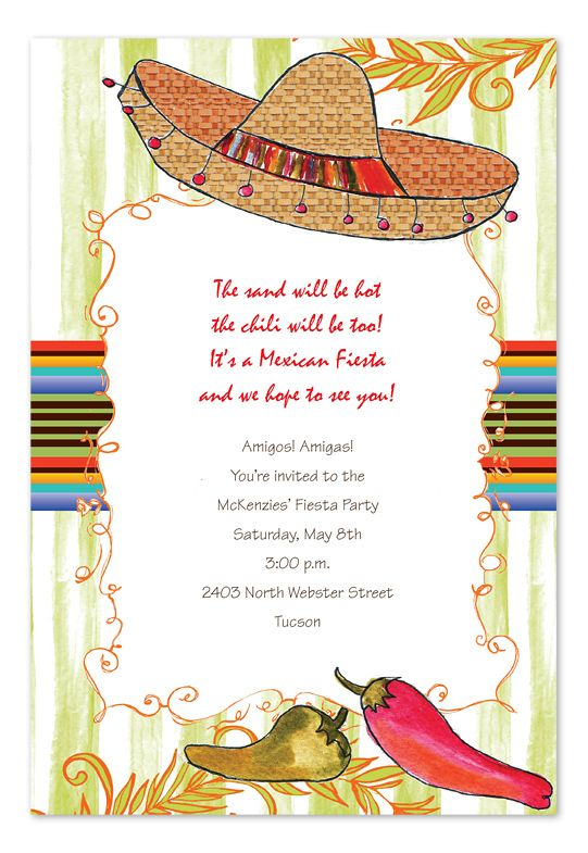 8 best Party invitation images on Pinterest Mexican fiesta party - best of invitation wording for year end party