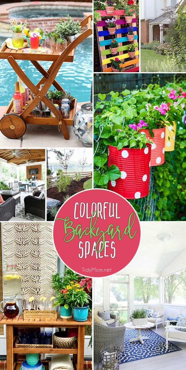 Summer is here and it's time to sweep off the porch and pull out the outdoor cushions! Whether you have a small patio or a large backyard with a pool, there are lots of ways to add color to your outdoor space. From DIY painted planters, to a cottage garde