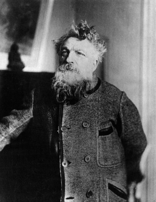 Auguste Rodin - what a magnificent looking man he was.