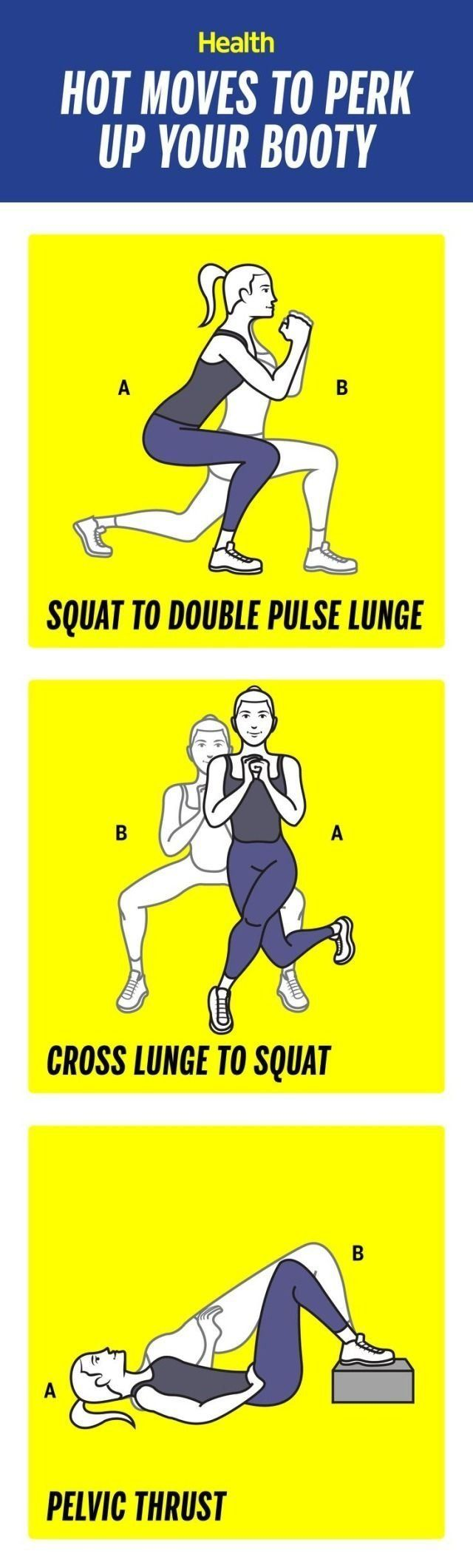 How to perk up your booty in 3 weeks: These moves will help to lift and tighten your butt in no time! | Health.com