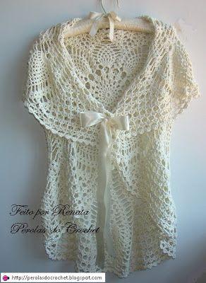 * Pérolas do Crochet: Colete de croche circular