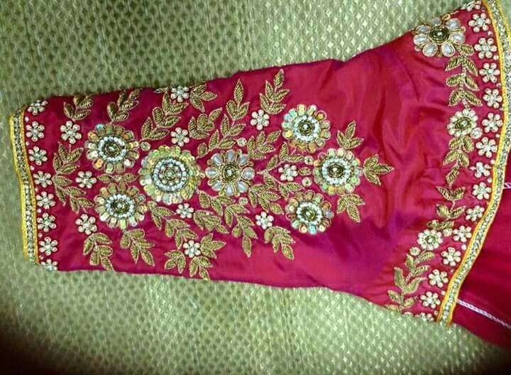 490 Best Maggam Works Images On Pinterest Blouse