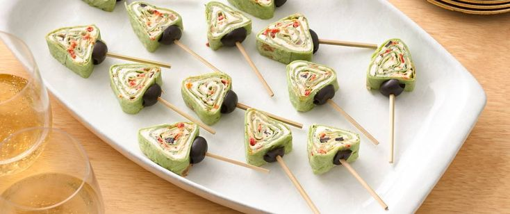 Christmas Tree Roll-ups - Enjoy this creamy appetizer made in creative tree shape - perfect for Christmas.