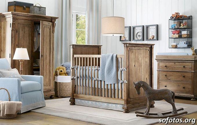 quarto de bebe rústico