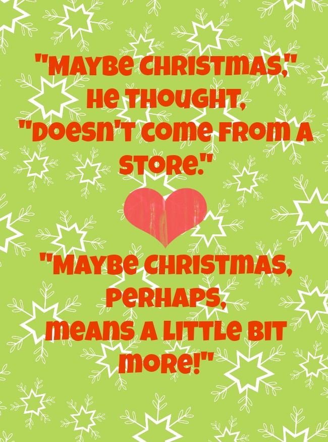 Free Christmas Printable: Dr. Seuss's The Grinch Quote. Plus Today's Featured Children's Charity