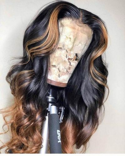 Ulovewigs Human Virgin Hair Ombre Honey Blonde Pre Plucked Lace Front Wig And Fu…