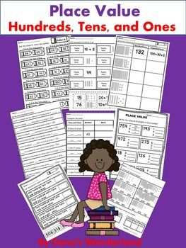 Place Value Worksheets - This Place Value product contains 20 place value worksheets . These Place Value worksheets are designed to help students identify the numbers in HUNDREDS, TENS, and ONES place - 20 worksheets with 8 different types of activities.