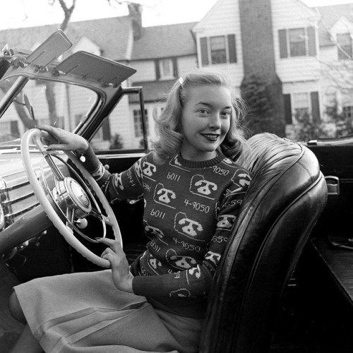 In the 1940s there was a trend among women to wear sweaters custom-knitted with their phone number.