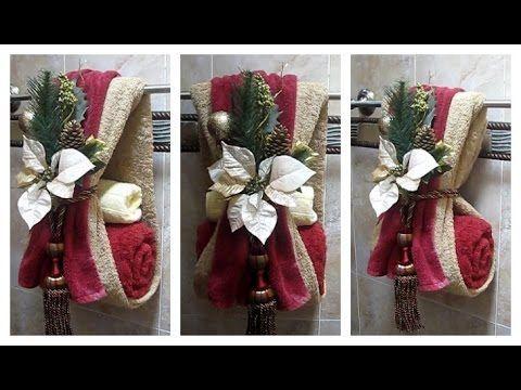 Como decorar las toallas de baño para navidad, fácil, sencillo y diferente! - YouTube