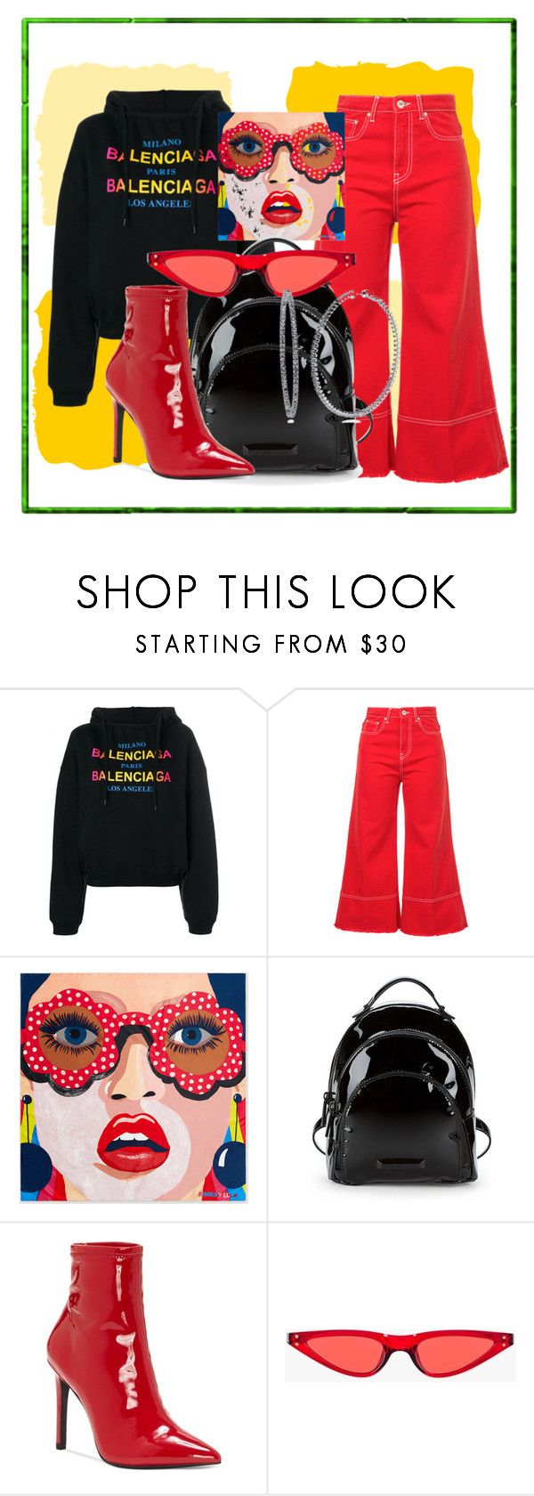 """""""I wanna know"""" by bernotaitegg ❤ liked on Polyvore featuring Balenciaga, MSGM, Kendall + Kylie, Jessica Simpson and BERRICLE"""